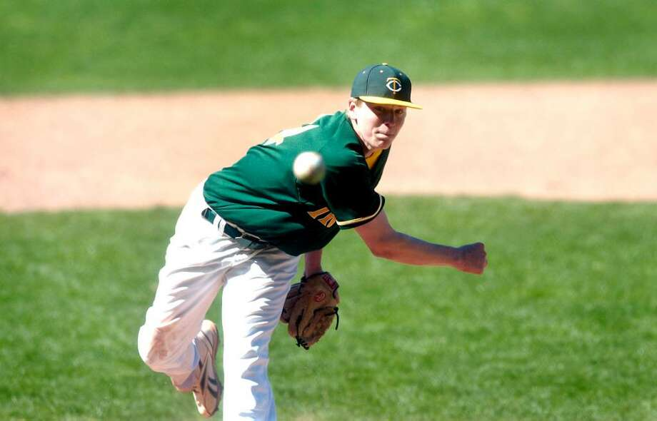 Trinity's Ryan Walsh is one of 10 FCIAC pitchers who will play Division I baseball next season. Walsh will attend Quinipiac University. Photo: Dru Nadler, ST / Stamford Advocate