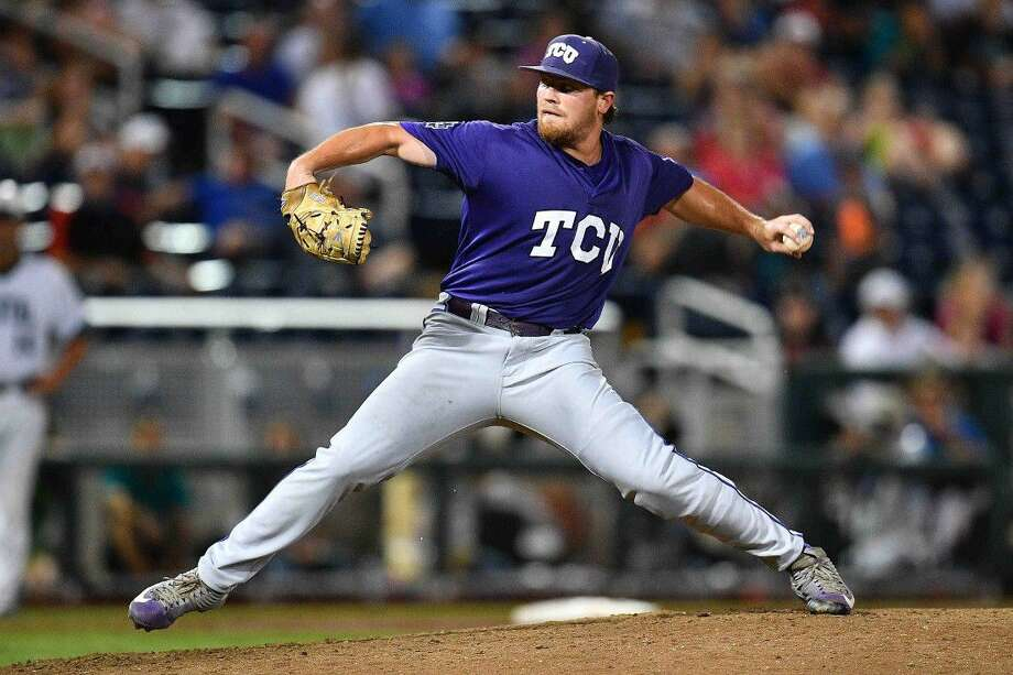 TCU reliever and TWHS graduate Ryan Burnett tossed 3 1/3 scoreless innings for the Horned Frogs in Tuesday's win over Coastal Carolina.