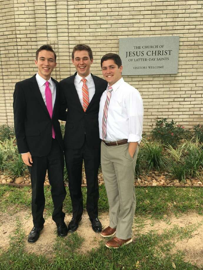 Caleb Hodson, Craig Reeves and Kyle Rippstein pictured together after receiving their mission assignments.)