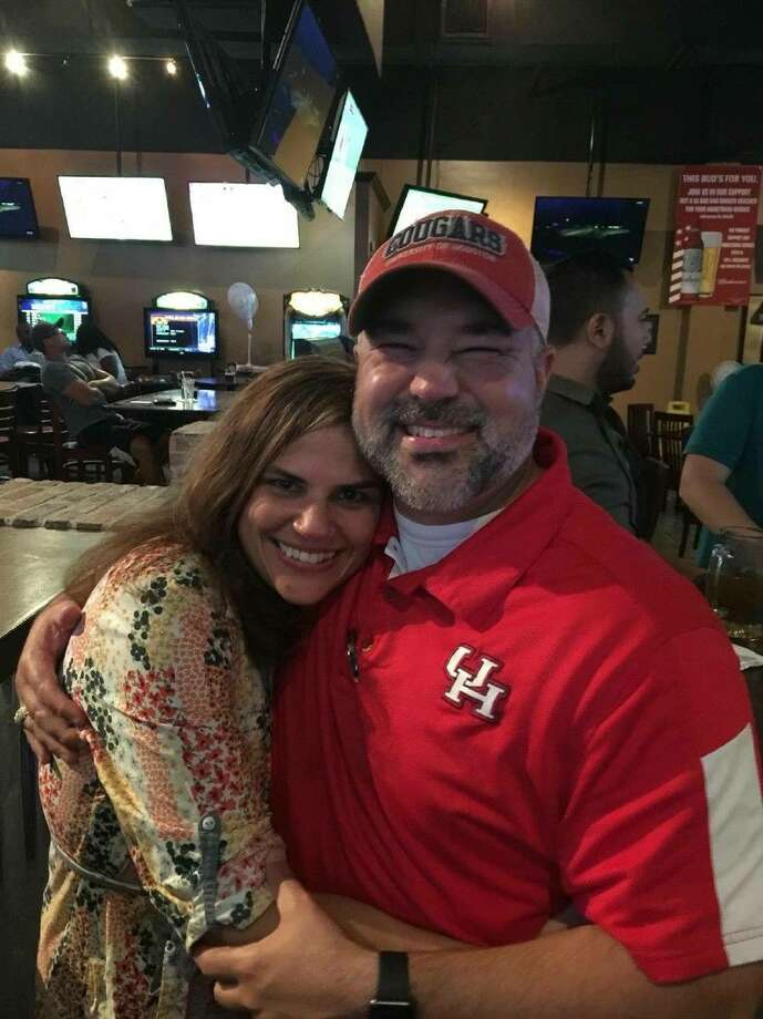 Trent and Tally Perez celebrate at his watch party on June 18.