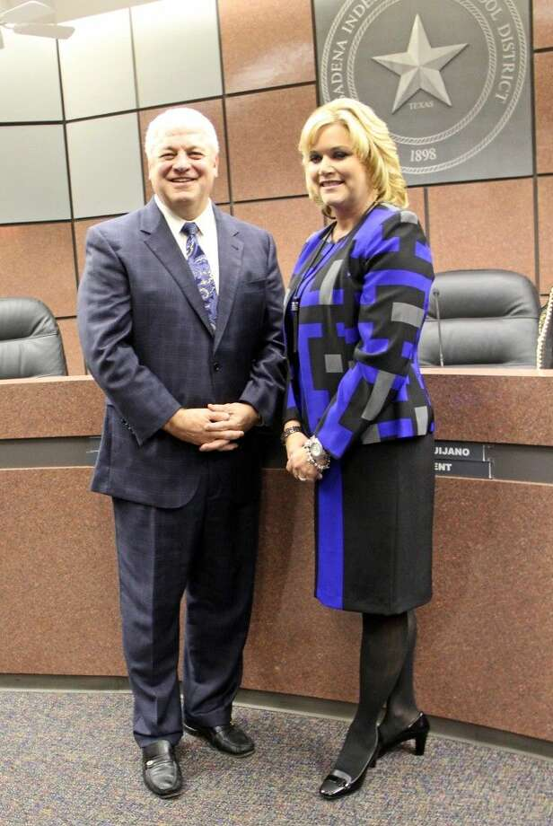 "At a special Pasadena ISD Board of Trustees meeting held Wednesday (Nov. 4), the current PISD deputy superintendent for campus development DeeAnn Powell (pictured at right) was named the lone finalist to replace Superintendent Kirk Lewis (pictured at left) who retires in January. After the announcement, Lewis expressed his support for Powell. ""You're in good hands,"" Lewis told the board and a standing-room-only crowd of staff members and guests. ""I think she will be exactly what the district needs to take it to the next level. With the energy and wisdom she brings, her ability to collaborate and draw a team together, it will be an awesome experience for everyone in the district."" Photo: Kristi Nix"