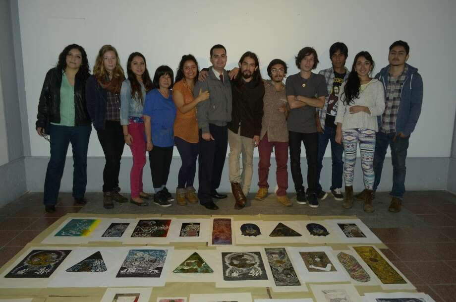 University of Houston-Clear Lake Professor of Fine Arts Sandria Hu received her third Senior Fulbright Specialist grant to share her artistic talent with international students. This third grant took Hu to University of Veracruz in Xalapa, Mexico, where she presented a workshop on the printmaking technique called chine collé to undergraduate and graduate students. Pictured are the students with Hu (fourth from left) during their final critique. While this marks the third time Hu has received a Senior Fulbright Specialist award, it is the sixth time she has been honored by the Fulbright program.