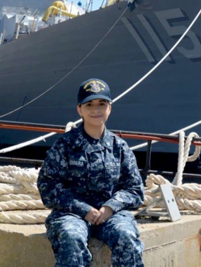 Petty Officer 3rd Class Gabriela Herrera of Shepherd, Texas, is a fire controlman aboard the Arleigh Burke-class guided missile destroyer operating out of Bath, Maine.
