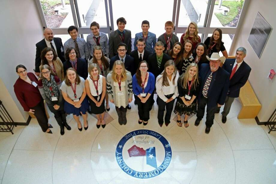MISD students with Commissioner Charlie Riley and Dr. Todd Stephens. Photo: MISD