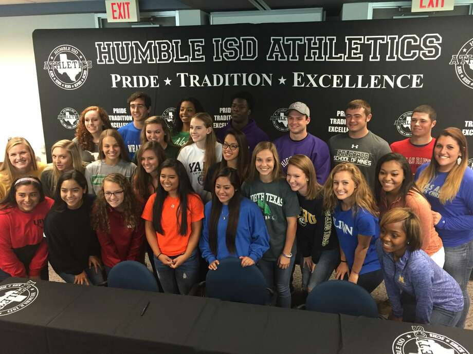 On Wednesday, Nov. 11, 2015, student athletes from Atascocita, Kingwood and Kingwood Park High School signed National Letters of Intent to play collegiate sports.