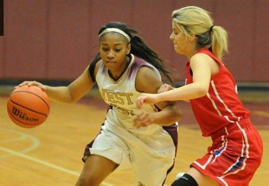 Magnolia West's Netta Allen contributed nine points in a 30-point victory against Kingwood Park.
