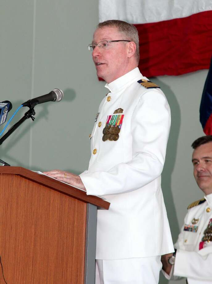 The Sector Houston-Galveston officially transferred authority and command to Capt. Peter Martin on Friday. Photo: Kar B Hlava
