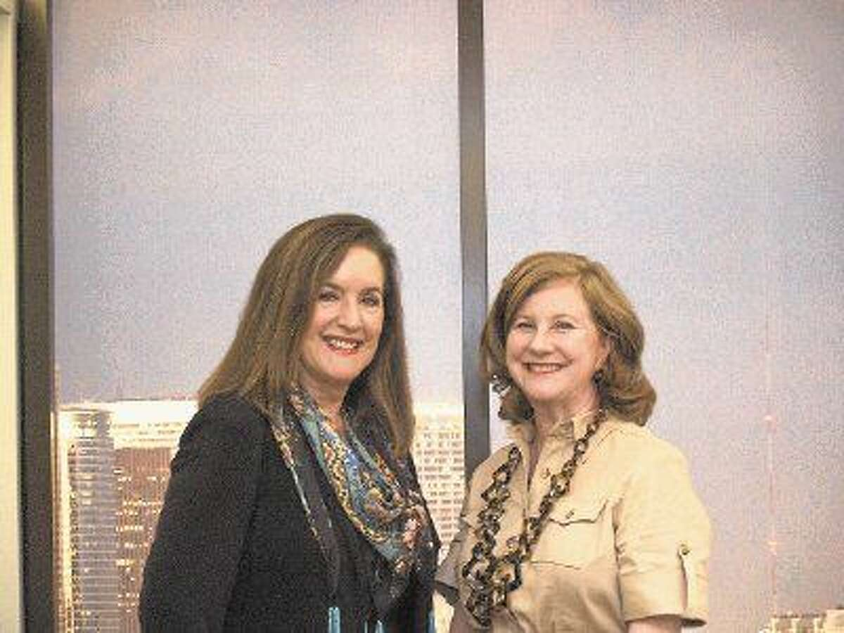 Eleanor McCarthy (l) and Jennifer Bowen, two good friends have bought adjacent units at the River Oaks, a high-rise development at Westeimer and Edloe.
