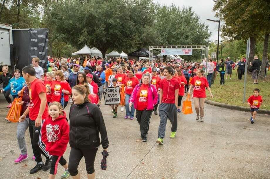 Walkers start the Heart Walk at Lone Star College Kingwood.
