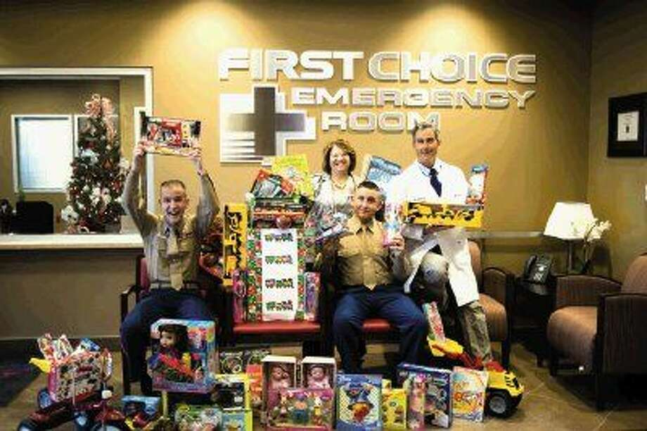 First Choice Emergency Room facilities will serve as Toys for Tots drop sites through Dec. 17.