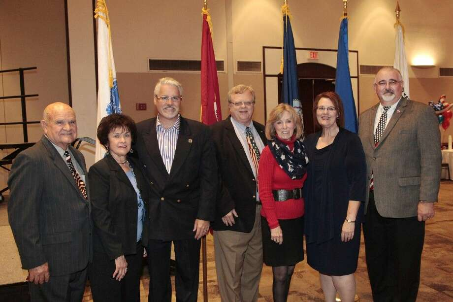 Local dignitaries including state representatives Dan Huberty and Debbie Riddle attended the Veterans Day event in Humble.