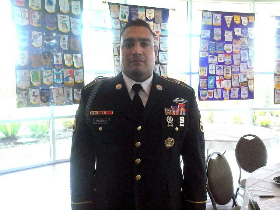 Staff Sergeant Rodrigo Vargas spoke at the Humble Rotary on Wednesday, Nov. 11.