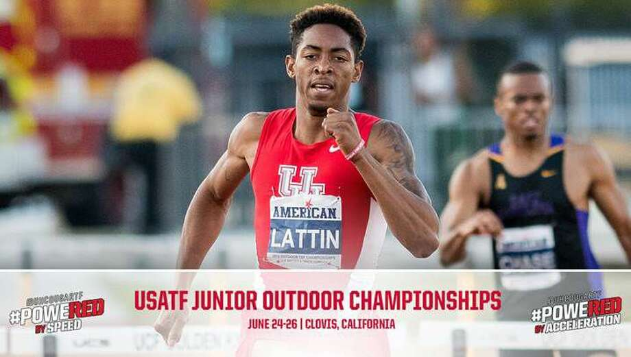 Fort Bend Marshall graduate and University of Houston hurdler Amere Lattin won a silver medal at the USATF Junior Championships, qualifying for the IAAF World Junior Championships. Photo: UH Athletics Media Relations