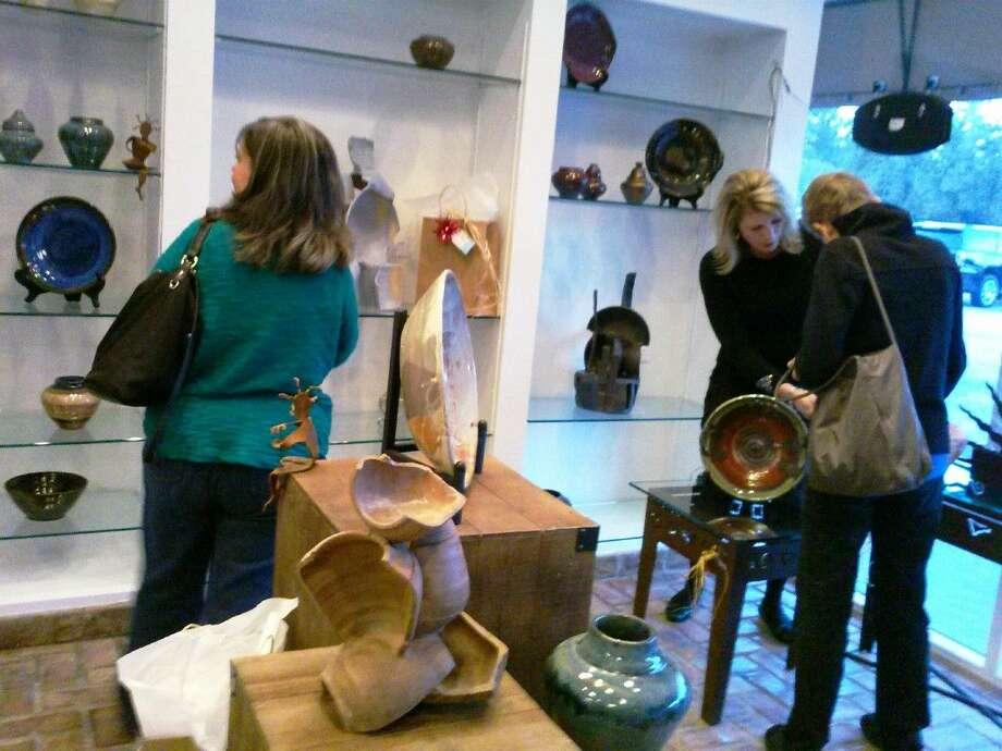 Martin Galleries held their grand opening in Kingwood on Saturday, Nov. 14, 2015. The gallery features ceramics, sculptures, wood turning, furniture and more.