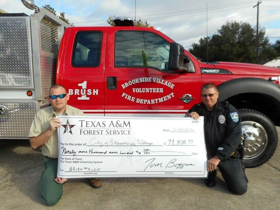 A 99,900 grant from Texas A&M Forest Service allowed Brookside Village Volunteer Fire Department to purchase a new brush truck.