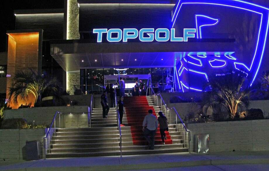 Googled - TopgolfGolf and alcohol have always gone hand in hand, so it's no surprised Topgolf at 1030 Memorial Brook shows up at the top of Google searches in Houston. Microchipped golf balls track speed and accuracy as players try to hit targets in a field.Honestly, other than going to a golf course in Houston, you probably won't find a bar similar to Topgolf. Photo: Kristi Nix
