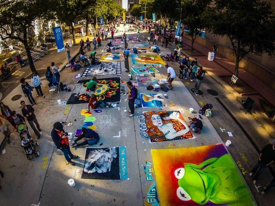 The Center for Hearing and Speech will be producing their 10th annual Houston Via Colori Street Painting Festival. The free two-day event will be taking place Saturday, Nov. 21, and Sunday, Nov 22. Photo: Patrick Bertolino