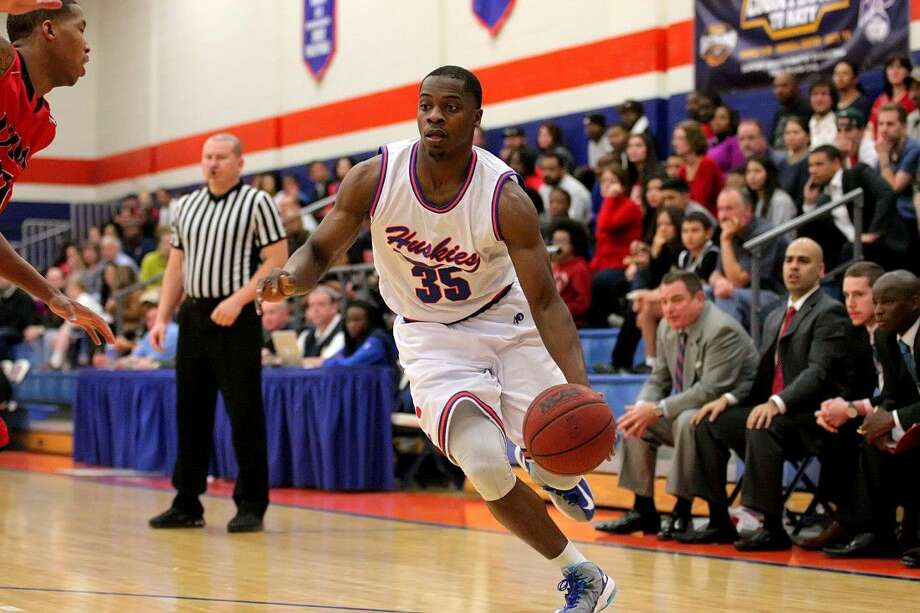 Travis graduate Anthony Odunsi was selected for the preseason all-Southland Conference team entering his senior year at Houston Baptist University. Photo: HBU Athletics