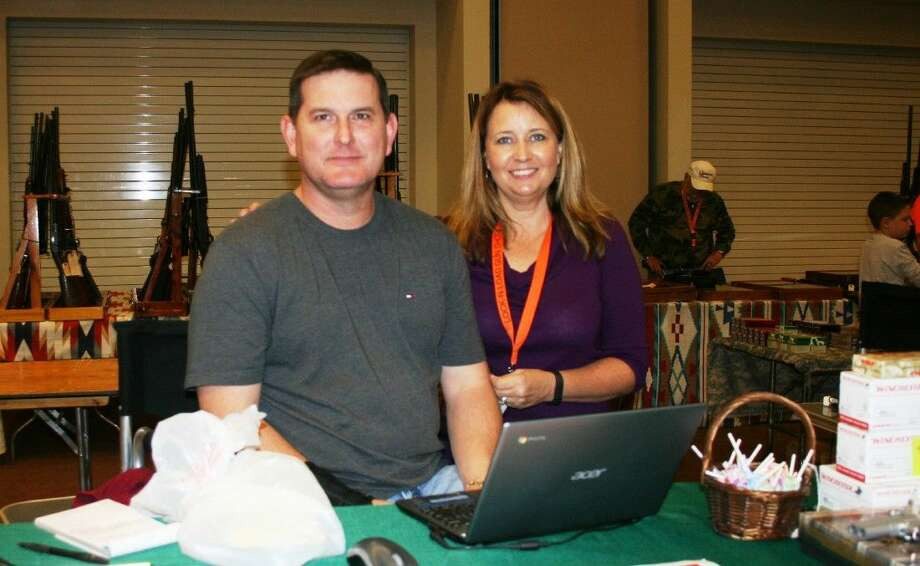 Todd and Tammy Florey, of Florey Arms, were among the vendors present at the Lock-n-Load Gun Show. Photo: Stephanie Buckner