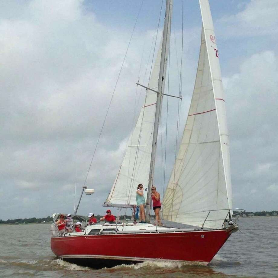 The Women's Sailing Weekend was held June 11-12 at the Houston Yacht Club. On June 11, there was a distance class won by Cissy Yoes' Redhead, helmed by Angelina Litton.
