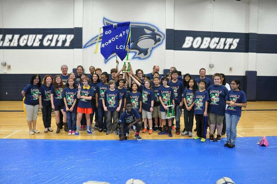 The RobotCats from League City Intermediate won the 1st place award in robot design and the 2nd place BEST award.