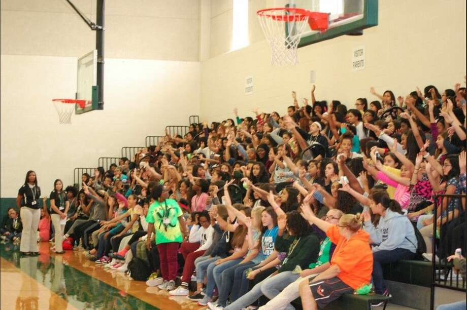 Kahla MS female students gather in the school gym for the Your Voice Matters Girl Empowerment Rally held on Nov. 13.