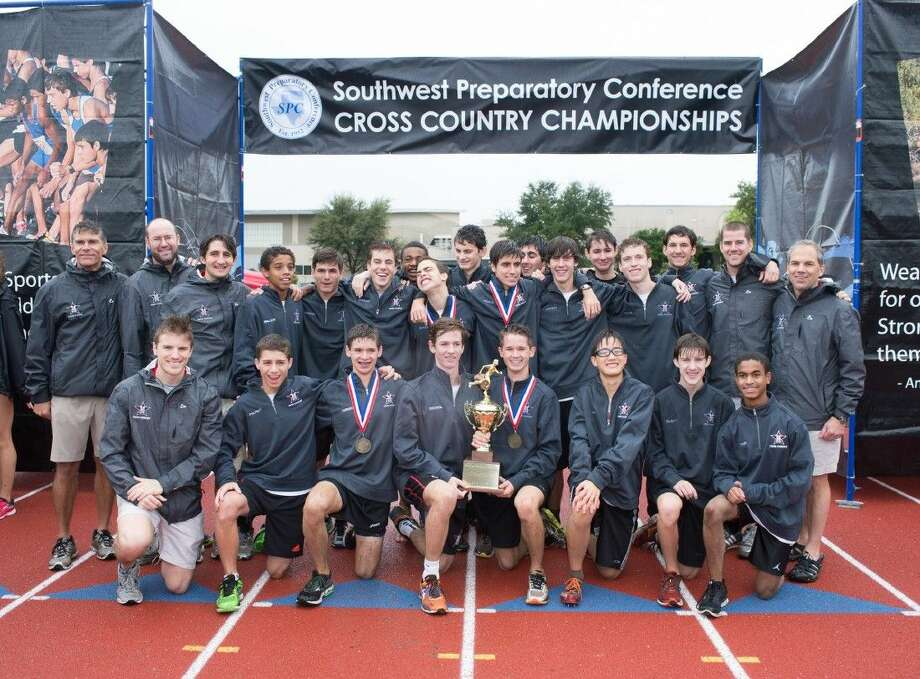The St. John's boys cross country team won the Southwest Preparatory Conference championship last Saturday, placing first among 17 teams in the field. Senior Joe Faraguna was the SPC gold medalist, placing first in the race. Photo: 2015 SPC Cross-Country