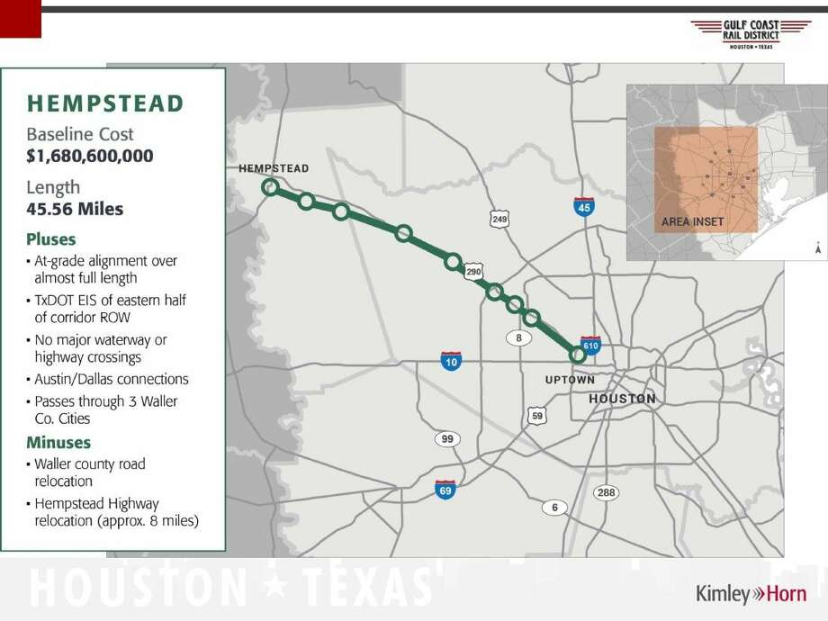Commuter Rail A Possibility Along Houston Chronicle - Us map of commuter railroads