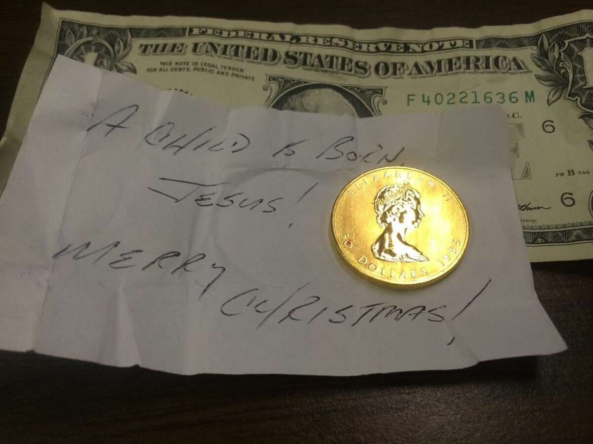 A third gold coin has been donated in one of the Salvation Army red kettles--all three have been from the West Houston area.