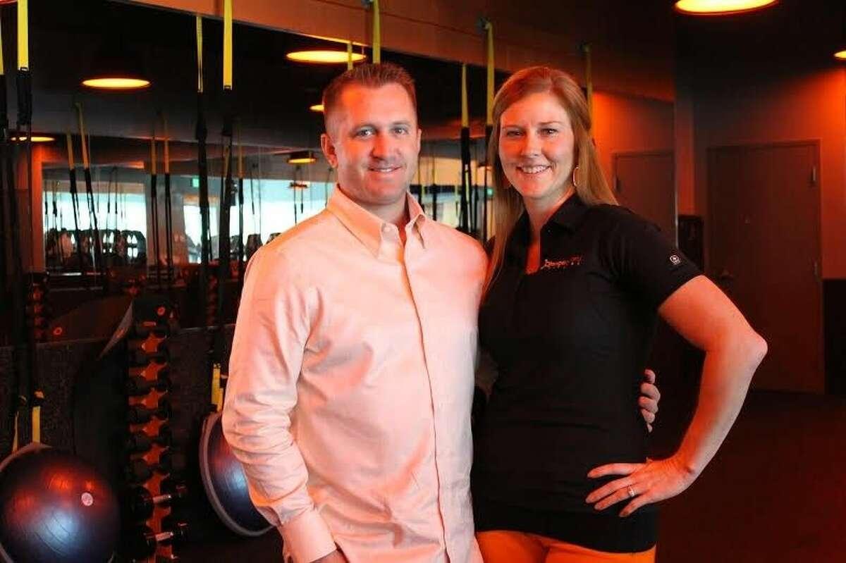 Keri and Ryan DesAutels, owners of Orangetheory Fitness Vintage Park