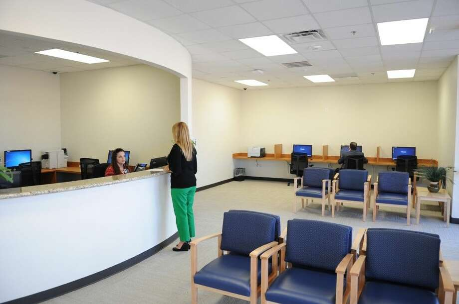 Houston Methodist The Woodlands Hospital Welcome Center provides a centralized location to educate prospective employees, physicians, volunteers, visitors, and guests about the Hospital and Houston Methodist Health System. Reception area of the Welcome Center. Photo: Submitted