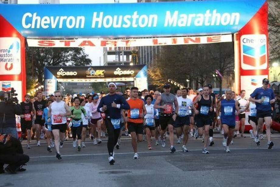 Track your favorite athlete's progress as he or she passes various checkpoint along the course on race day with real-time notifications sent to you via text message or email. Visit www.chevronhoustonmarathon.com to sign up. Photo: Lisa Coniglio