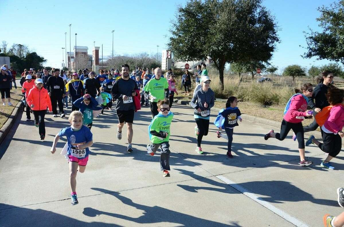Fun Run participants take off from the starting line during the Superintendent Fun Run in February 2014. The 2015 event is set for Feb. 21 at the Berry Center.