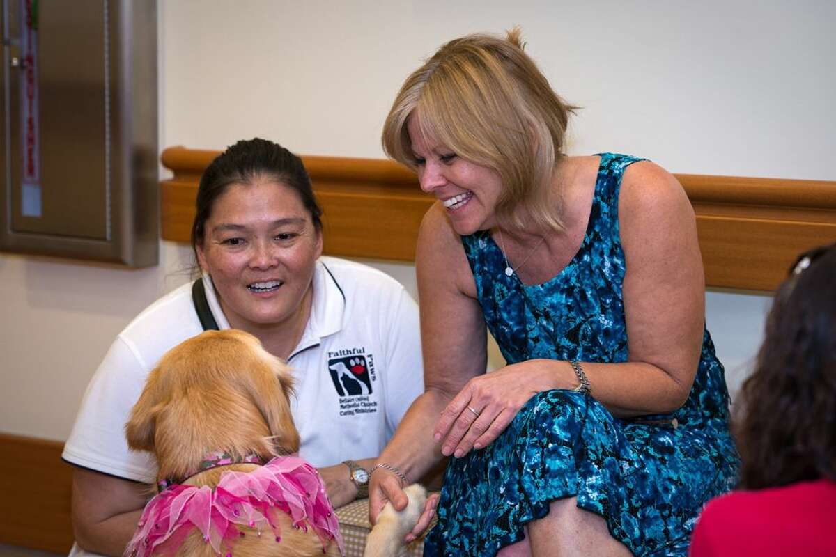 The pets make everyone happy at Houston Hospice Pet Therapy.
