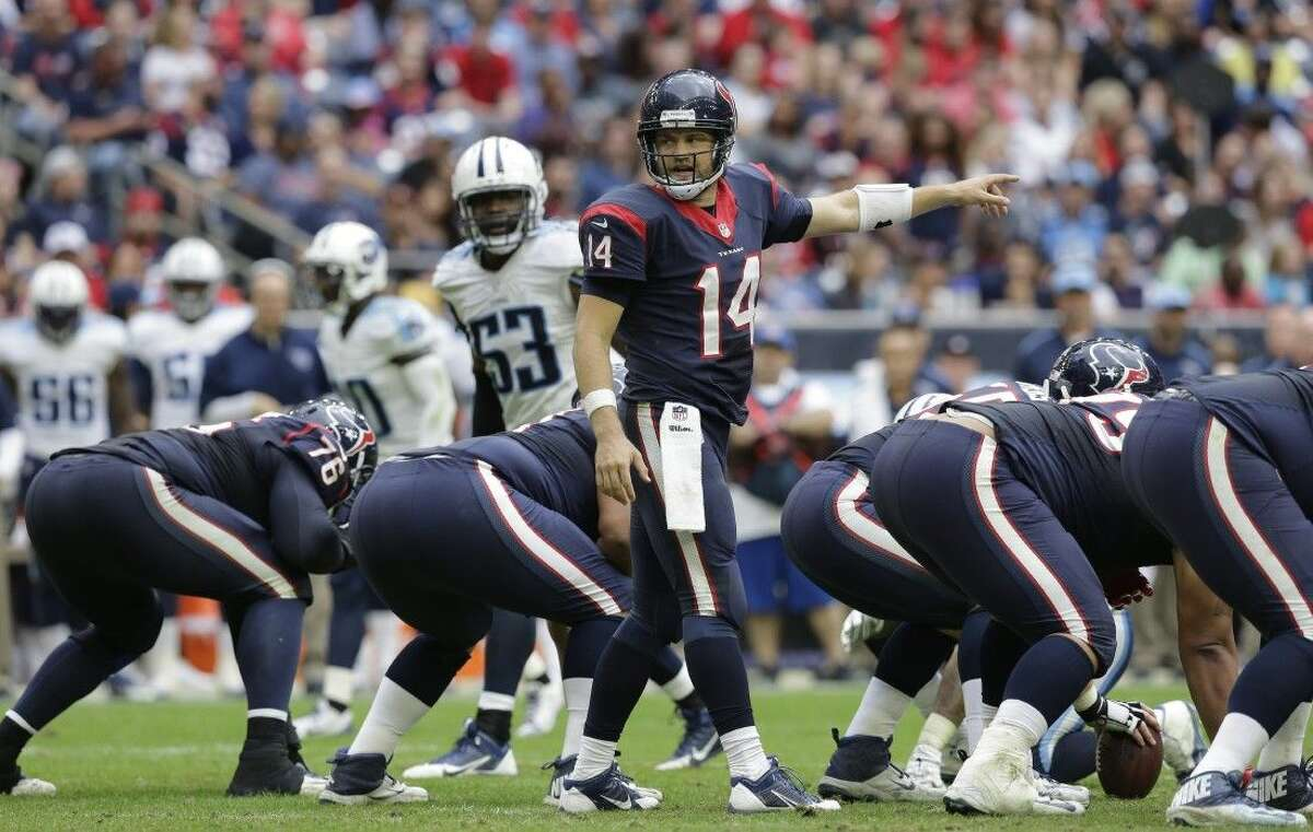Texans quarterback Ryan Fitzpatrick makes his second consecutive start after taking over for injured teammate Ryan Mallett.