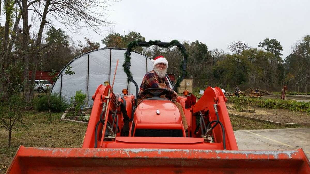 Between the Oaks hosted Santa on a tractor on Dec. 6, 2014.