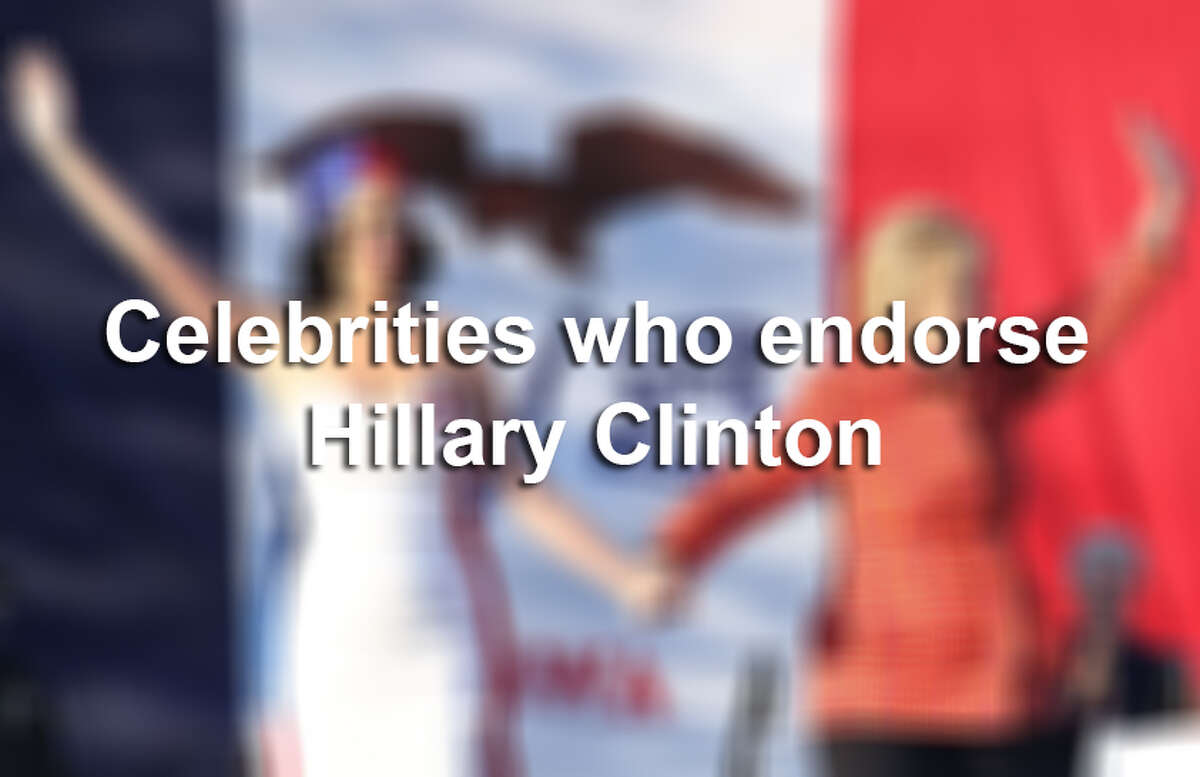Keep clicking to see celebrities who are endorsing the democratic nominee for president.