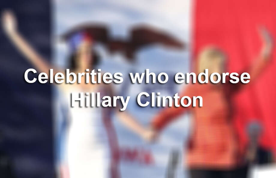 Keep clicking to see celebrities who are endorsing the democratic nominee for president. Photo: File