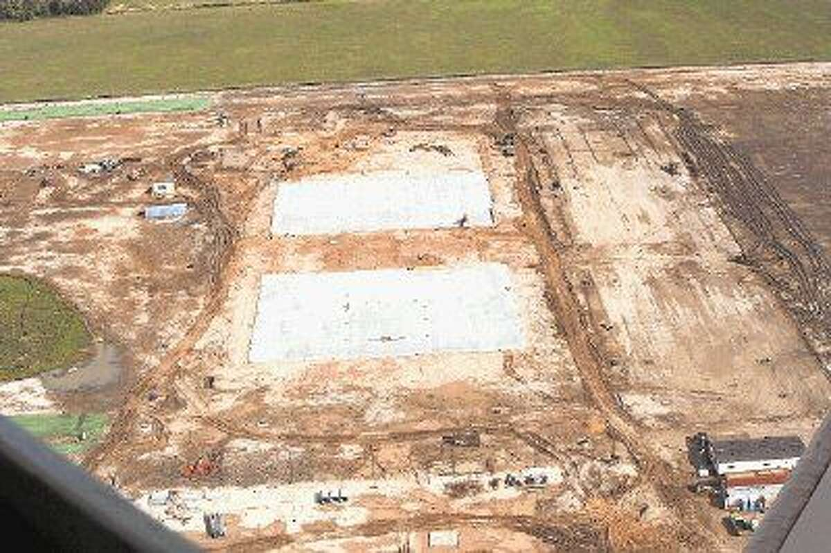Pictured is the construction site for TSTC's Industrial Technology Center in Rosenberg. Two of four pads have been poured according to TSTC Vice Chancellor and CXO, Randy Wooten. The 80-acre campus is located north of Highway 59, between FM 2218 and Highway 36.