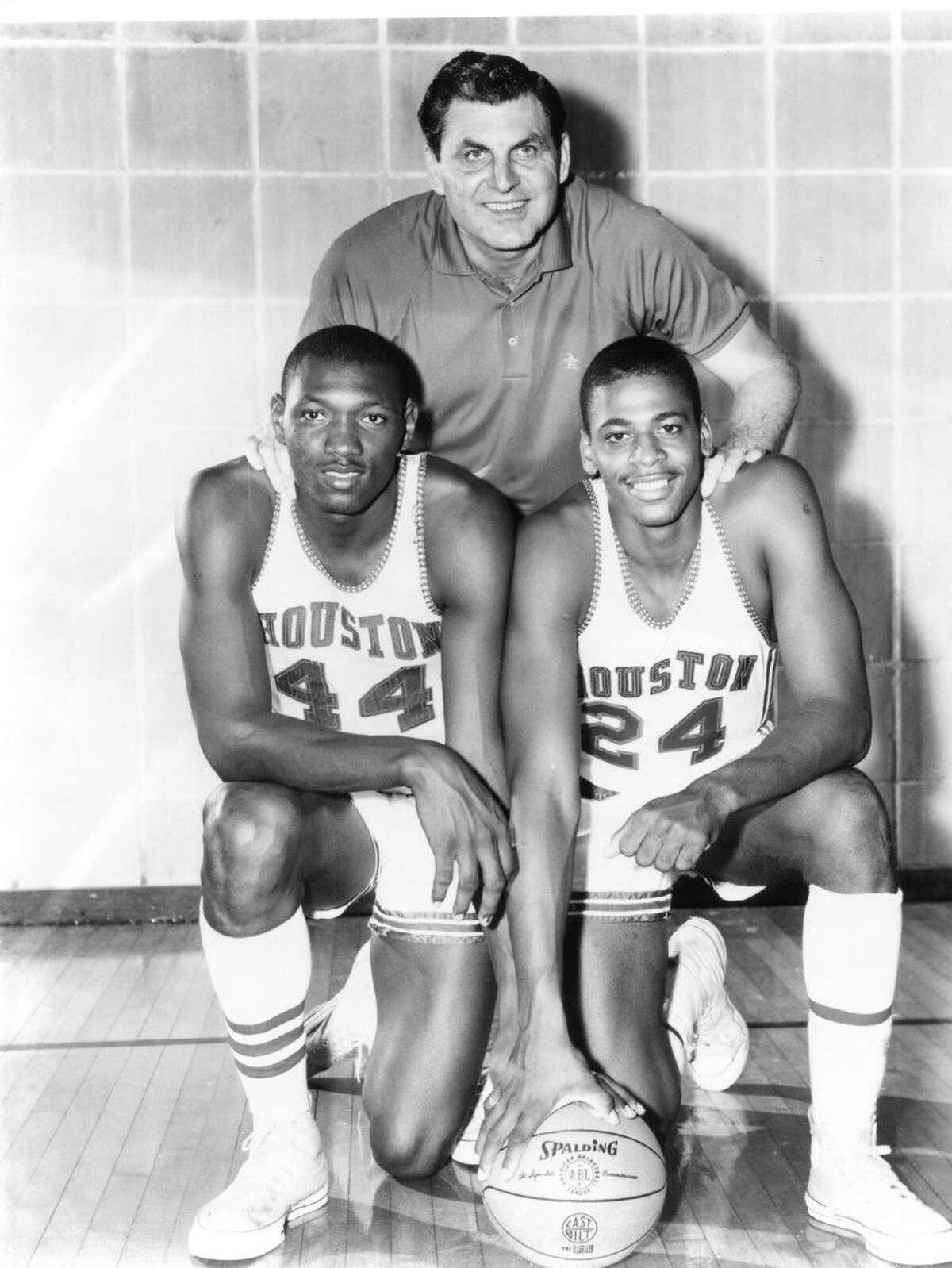 Lewis with Elvin Hayes and Don Chaney.