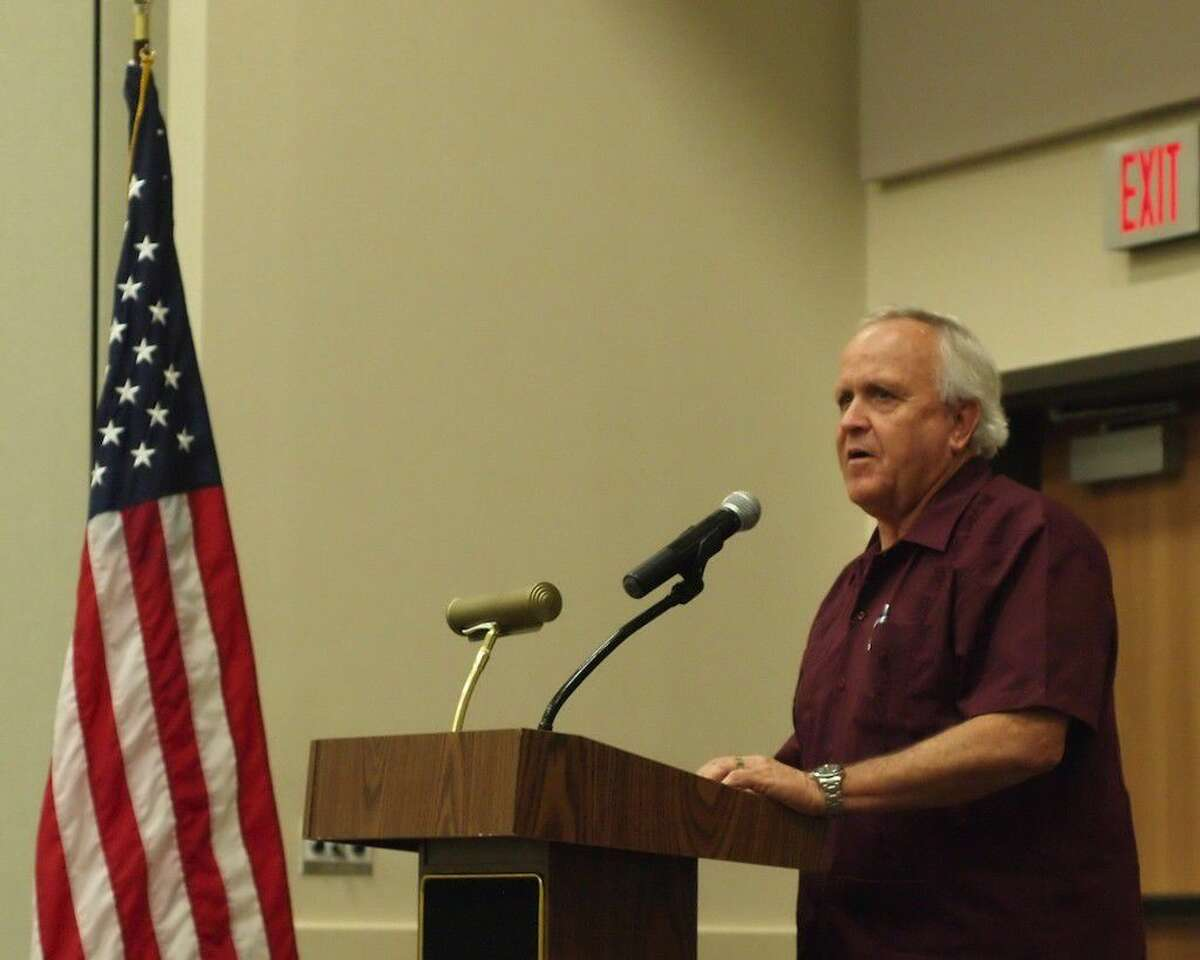Liberty County Judge Jay Knight was guest speaker at the Dayton Chamber of Commerce lunch on July 5, 2016.