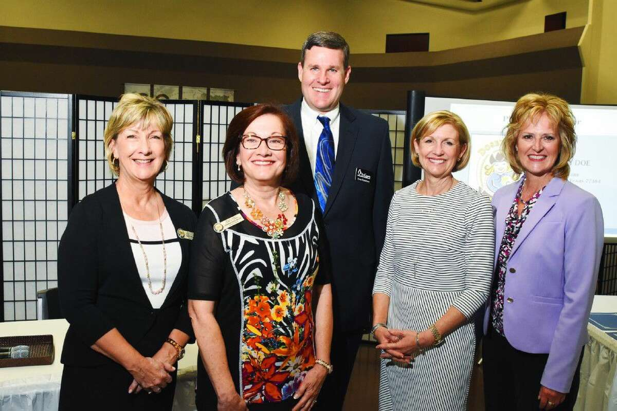 MPCC Chairman Candy Emmerich of First Financial Bank, Board Member Deborah Rose Miller, Evan Roberson of Tri-County Behavioral Healthcare, Linda Nelson of Memorial Hermann and MPCC President Kelly Hamann.