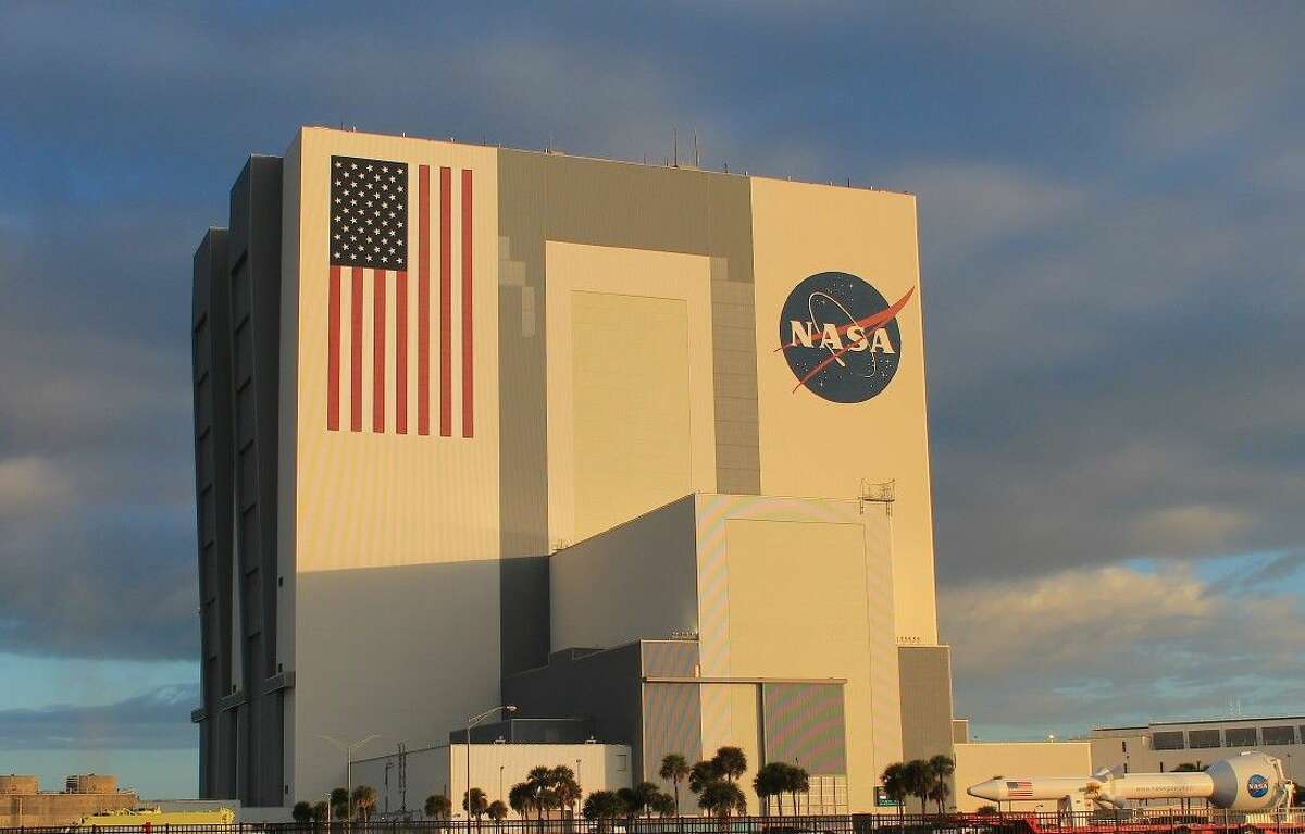 The iconic Vehicle Assembly Building (VAB).