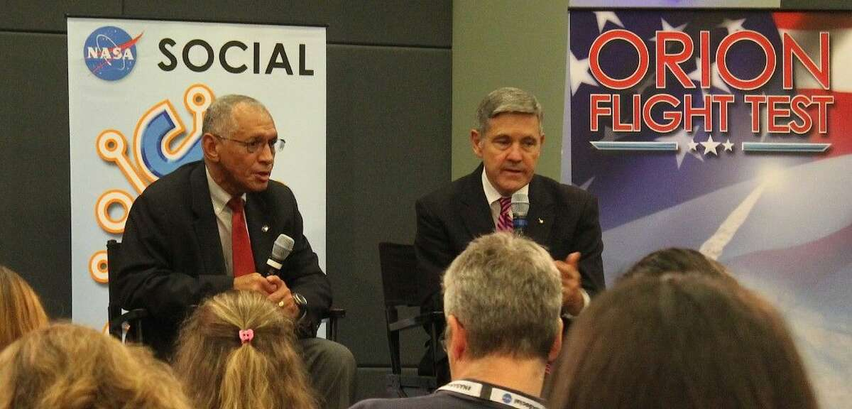NASA Administrator Charles Bolden and KSC Administrator Bob Cabana at the televised NASA Social.