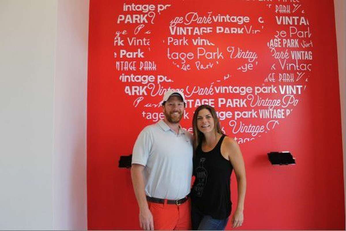 McLean and Devonie Coble, owners of CycleBar at Vintage Park.