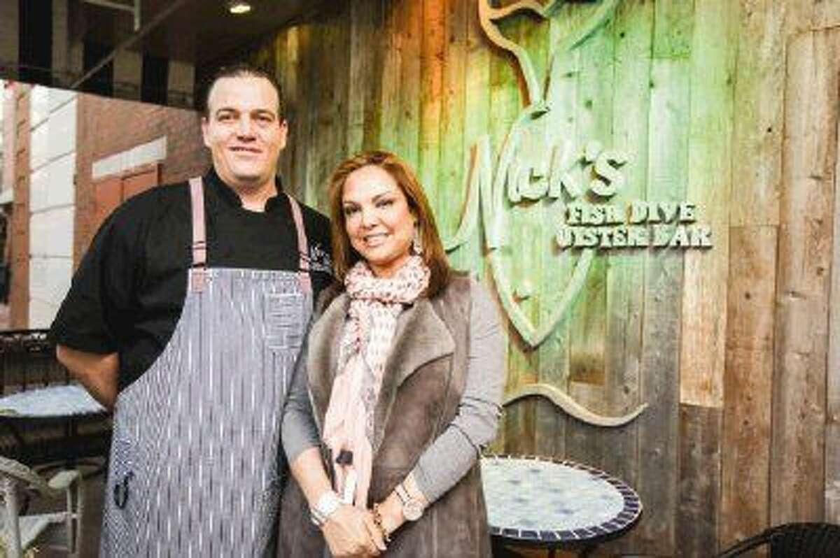 Owner Claudia Leonardo and Executive Chef Aaron Nelson make sure the seafood used in the entrees at Nick's Fish Dive and Oyster Bar is the freshest possible, working with fishermen from the Gulf of Mexico and the upper East Coast.