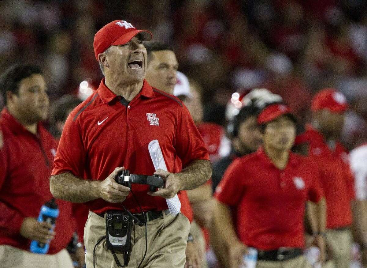 Third-year football coach Tony Levine was fired Monday by the University of Houston. Levine compiled a 21-17 record with the Cougars.