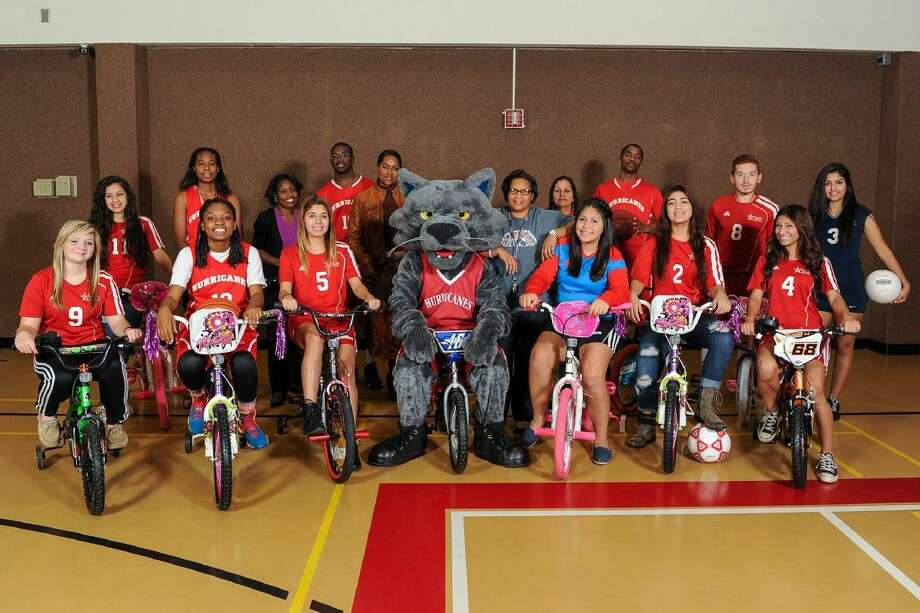 Lone Star College-North Harris Professional Support Staff Association (PSSA) recently collected more than 40 children's bikes via a Holiday Bike Bash benefitting LSC-North Harris students with children. Photo: Submitted Photo