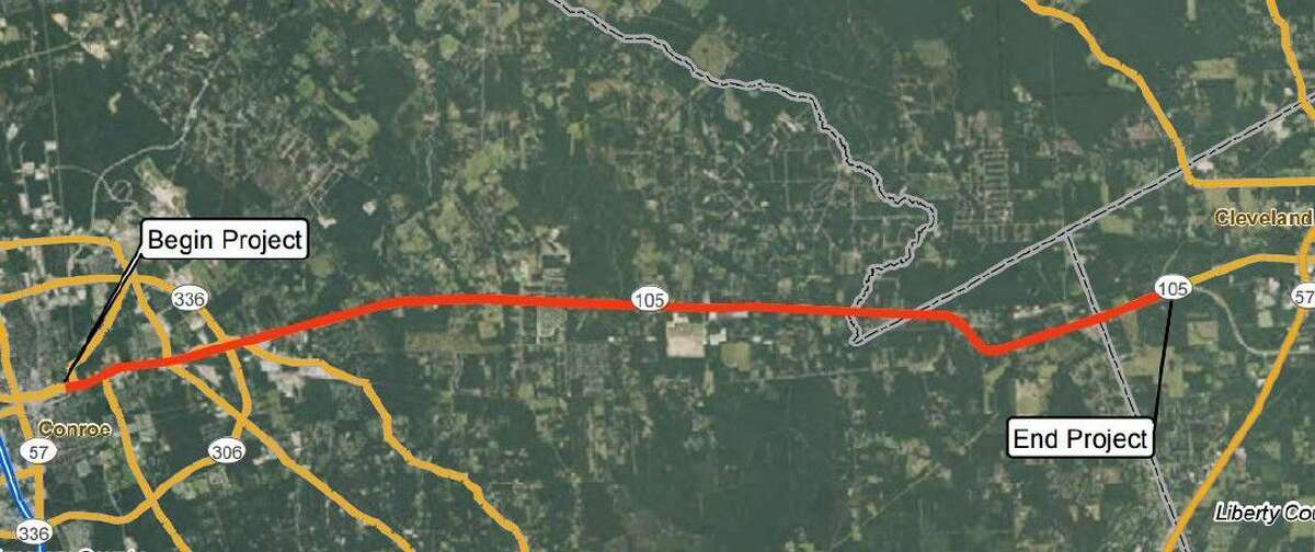 Open house scheduled for Texas 105 widening