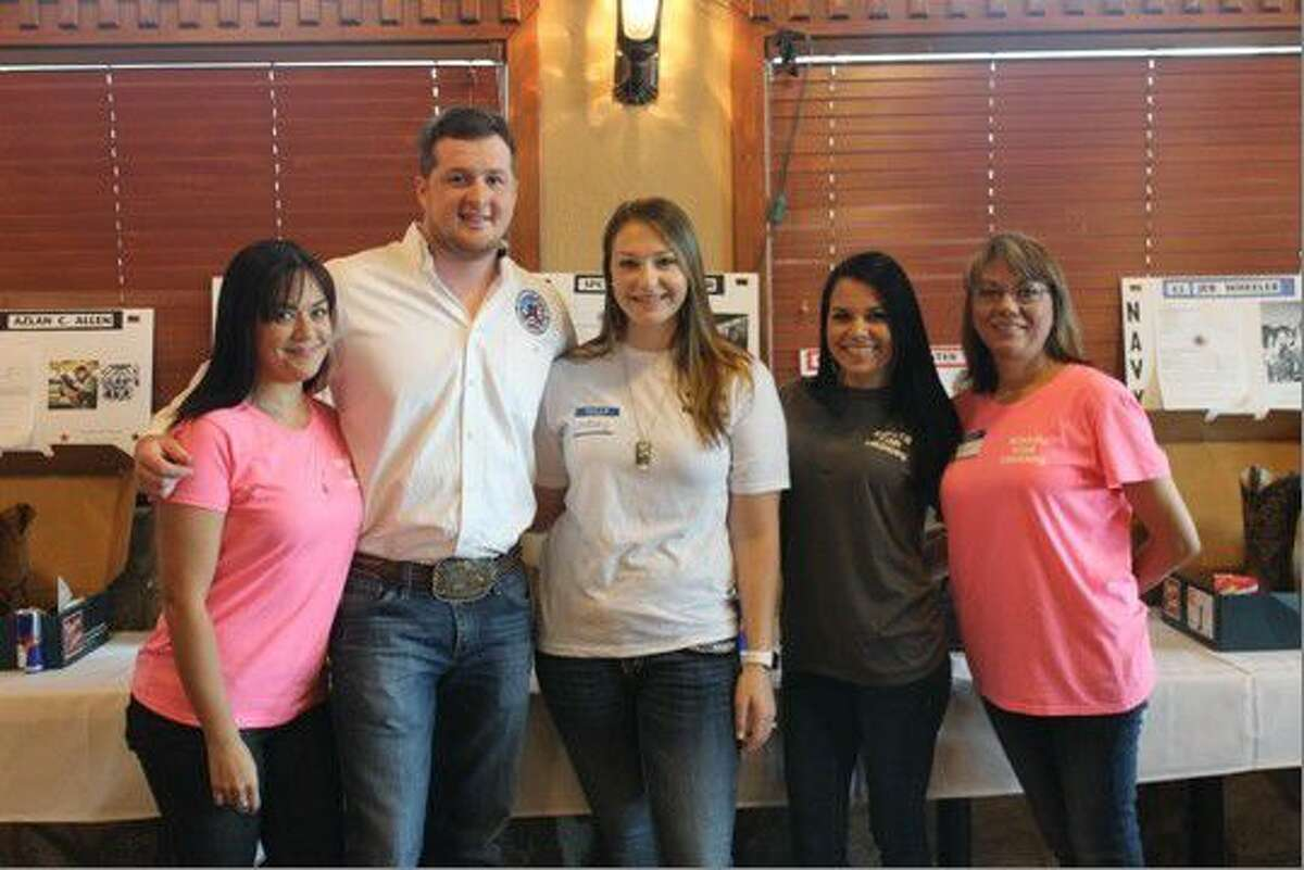 Boots for Troops team. (l-r) Valerie Vela, founder Jimmy Rogers, wife of founder Lindsey Rogers, Catelyn Renolds, Tammie Reynolds.